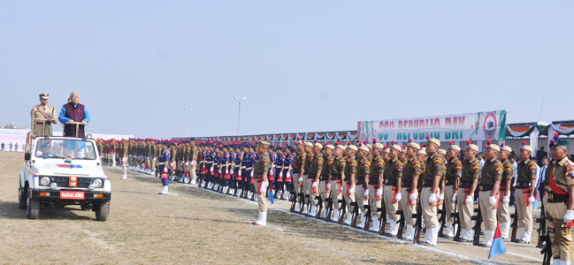 Governor Parade Inspection during the 69th Republic Day Celebration